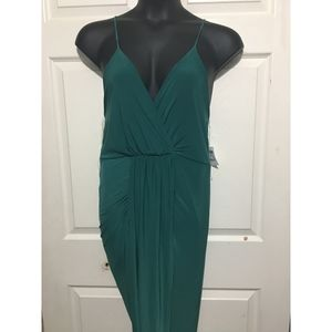 Charlotte Russe Dresses - Charlotte Russe Wrap Slip Dress Size XL Green